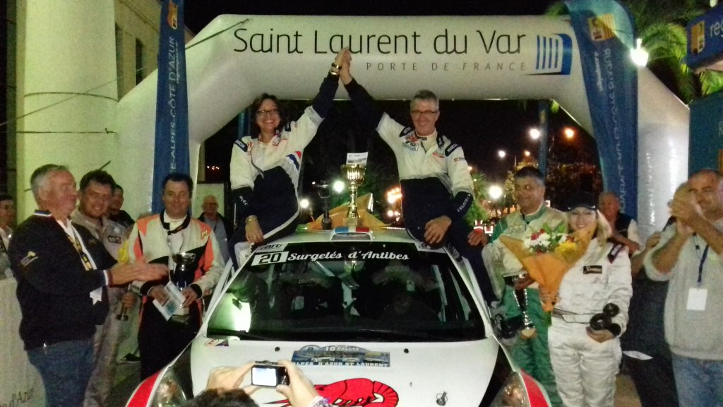 Podium du 10ème Rallye Alpes d'Azur Saint-Laurent
